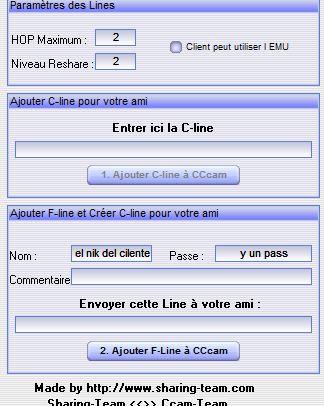 Manual CCcam lines Manager,programa para crear clines