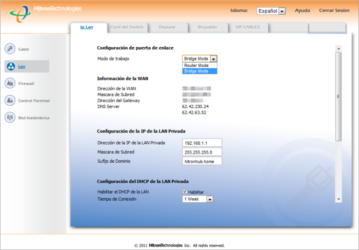 Firmware router hitron cde-30364